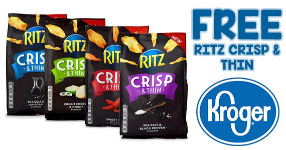 Kroger Friday Freebie – Free RITZ Crisp & Thins Chips