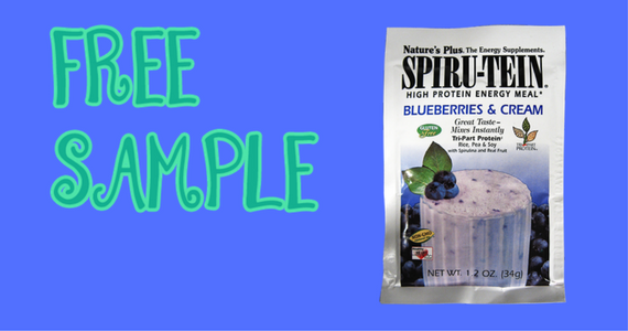 Free Blueberries & Cream SPIRU-TEIN Shake Sample