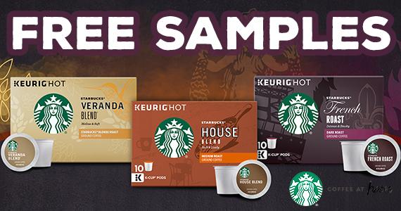 Free Starbucks Coffee K-Cup Sample Pack