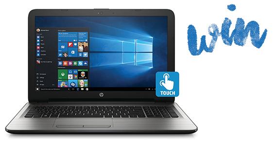 Win an HP Touchscreen Laptop