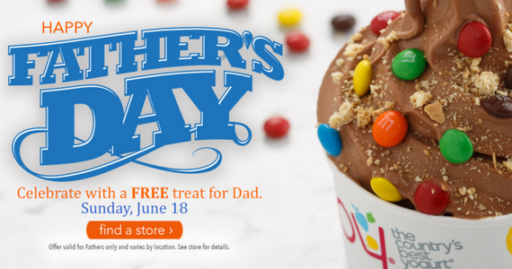 Free Treat For Dad's at TCBY
