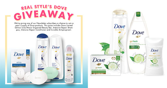 Win a Year's Supply of Dove Products