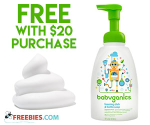 Free Babyganics Dish & Bottle Soap