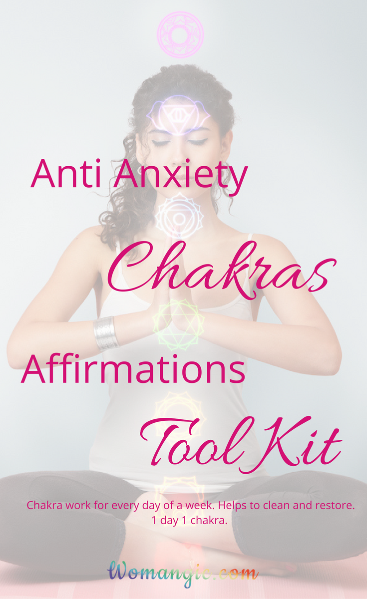 EveryDay Anti Anxiety Chakras Affirmations Tools kit