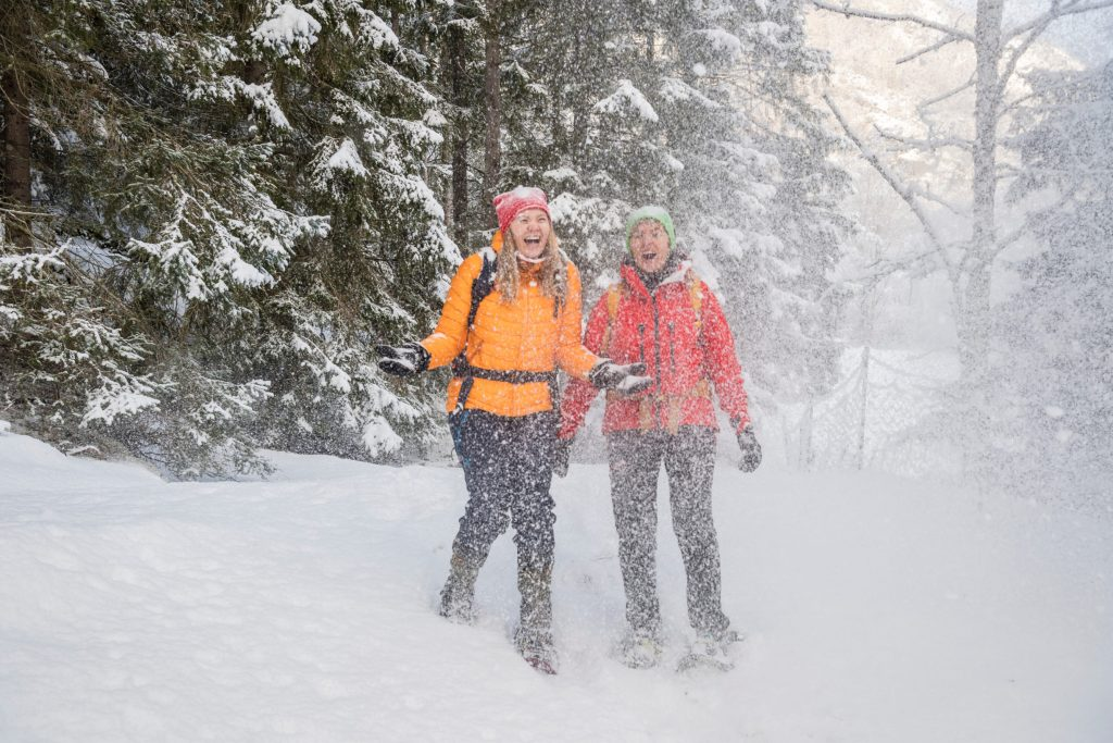 King's Road by winter. A great snowshoeing adventure.