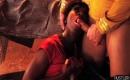 Pornovideo Willige Frau steht auf Blowjobs