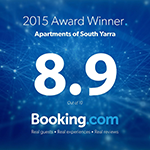 Booking.com Award 2015 - Apartments of South Yarra