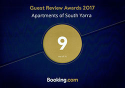 Booking.com Guest Review Award 2017 - Apartments of South Yarra