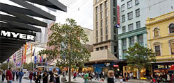 Melbourne hotel accommodation near Bourke Street Mall
