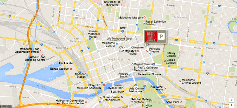 city-limits-melbourne-hotel-location-map