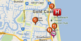 Broadbeach Location Map Gold Coast