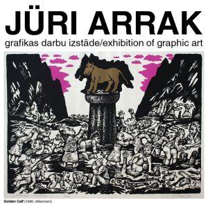 Jüri Arrak grafikas darbu izstāde galerijā BASTEJS