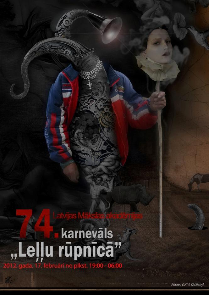 Latvijas Mākslas akadēmijas karnevāls LEĻĻU RŪPNĪCĀ