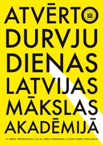 Atvērto durvju dienas Latvijas Mākslas akadēmijā