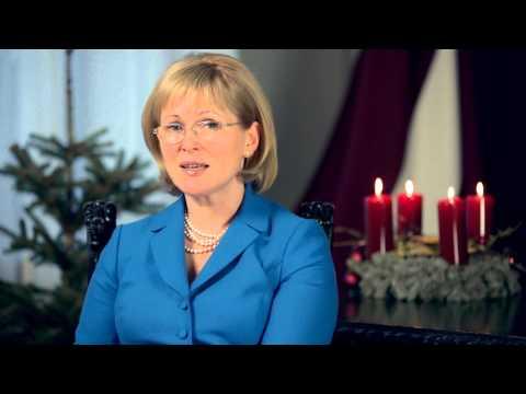 Youtube: Kultūras ministres Žanetas Jaunzemes-Grendes svētku novēlējums