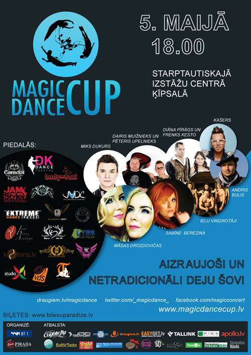 magic dance cup 2013, plakāts