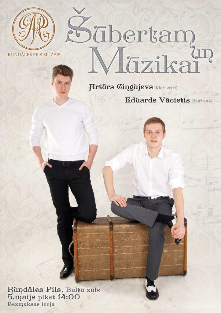 Šūbertam un Mūzikai – bezmaksas koncerts (Eduards Vācietis un Artūrs Cingujevs) Rundāles pilī