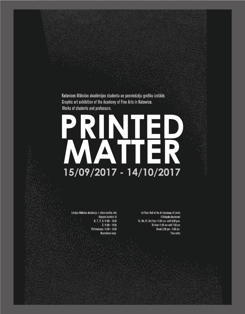 izstādes Printed Matter plakāts