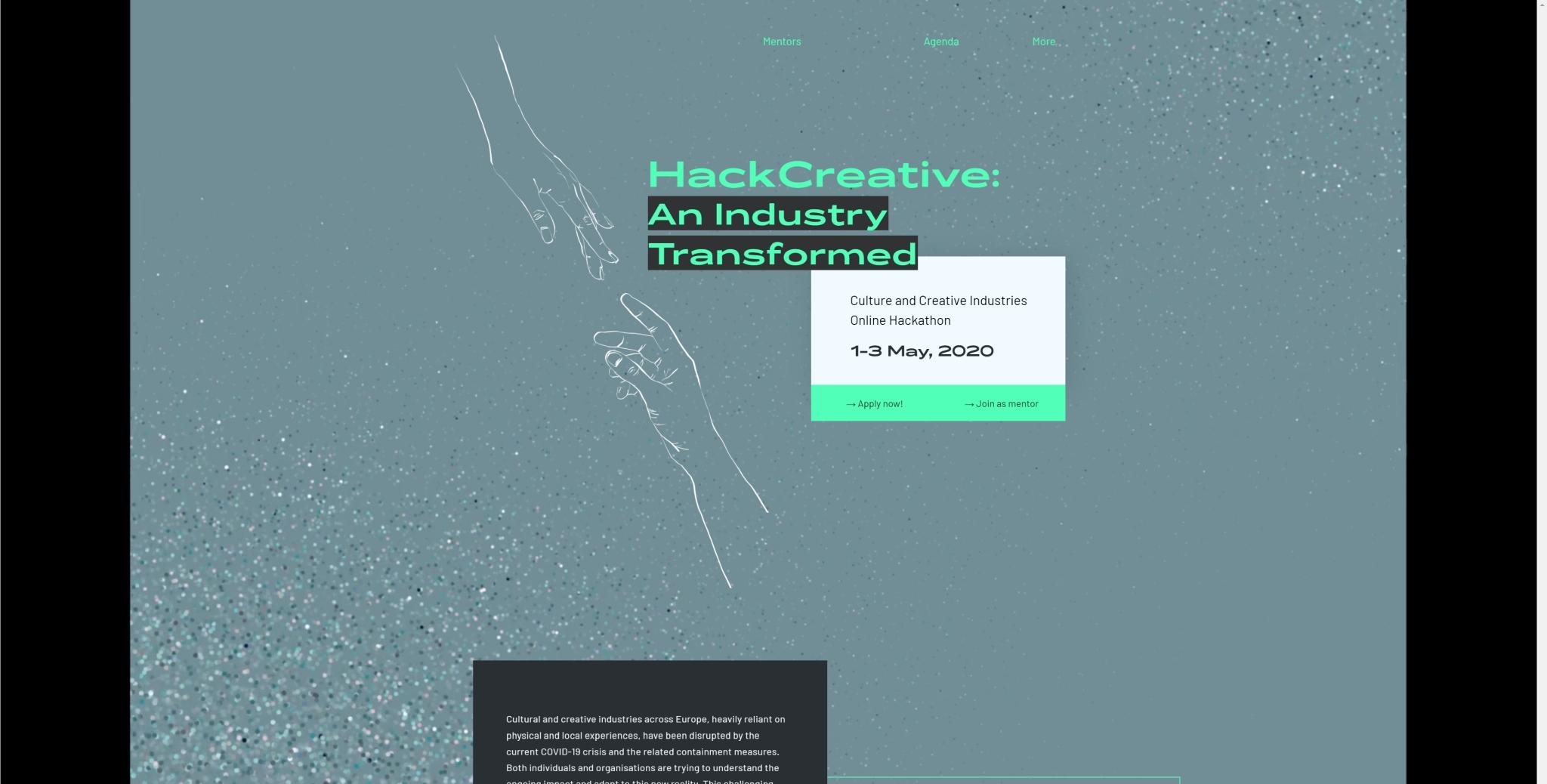 """""""HackCreative: An Industry Transformed"""" – piedalies tiešsaistes hakatonā un veido krīzes risinājumus kultūras industrijai"""