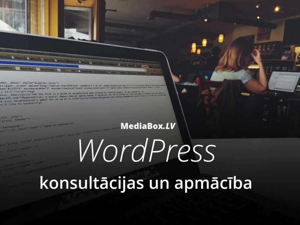 WordPress konsultācijas un apmācība