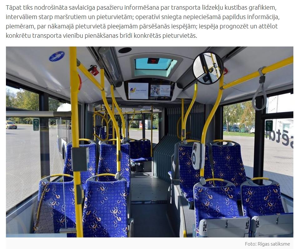 Kāpēc sabiedriskā transporta salonos izvieto monitorus?