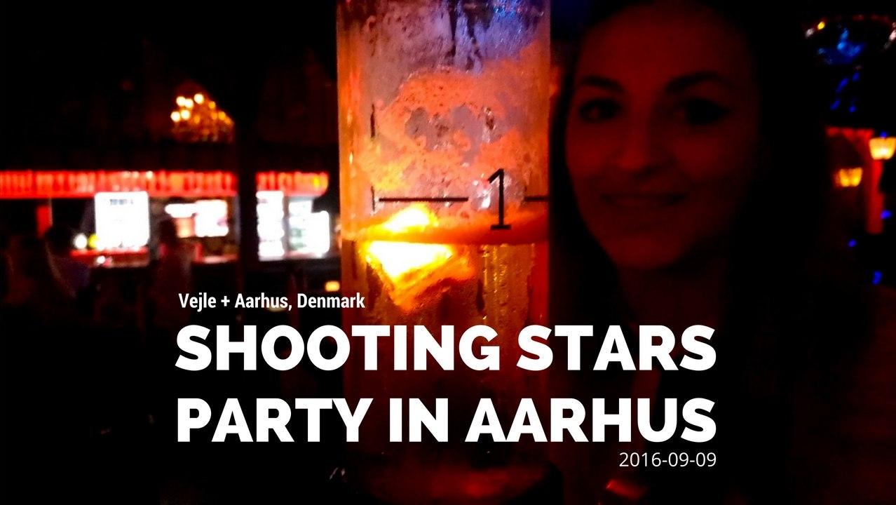 Shooting stars in Aarhus. Party video.