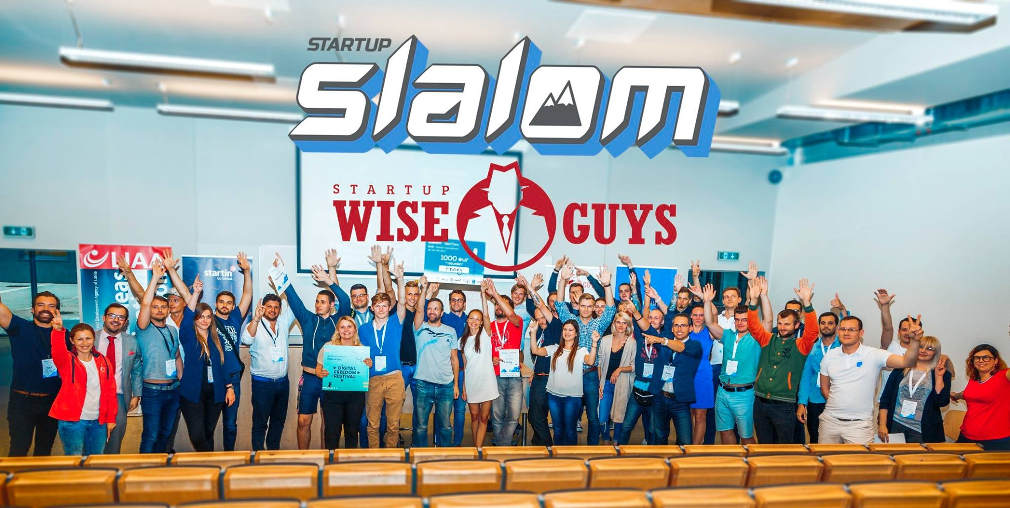 Participiants at Startup Slalom + Startup Wise Guys. Riga, Latvia. August 2017.
