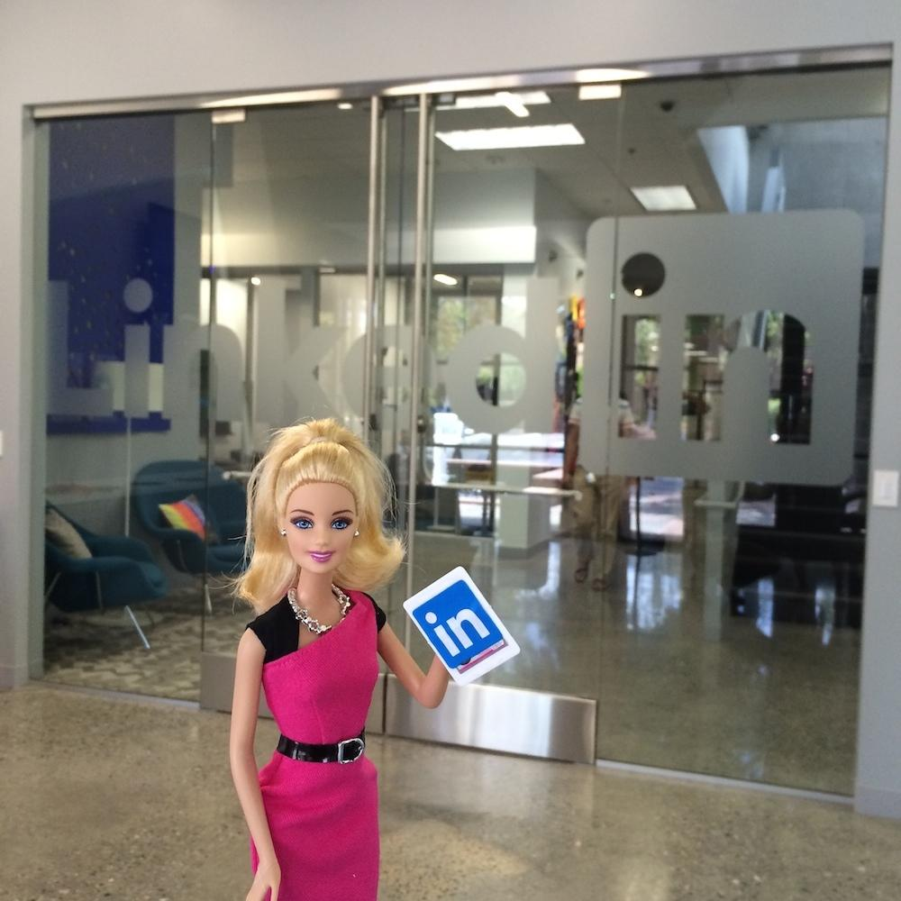 Entrepreneur Barbie on Linkedin