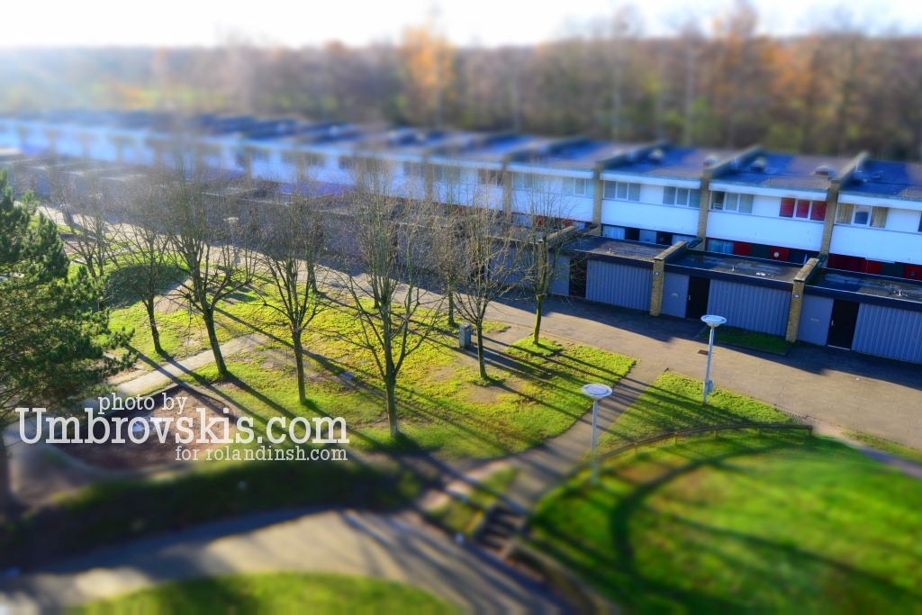Autumn's sun in Vollsmose in Odense