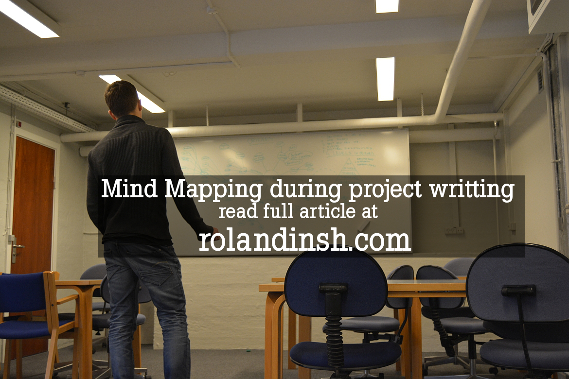 Mind map of project in Lillebaelt Academy. Time lapse video.