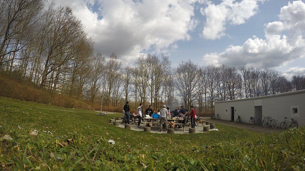 Easter BBQ in Rasmus Rask. Odense, Denmark. (timelapse video)