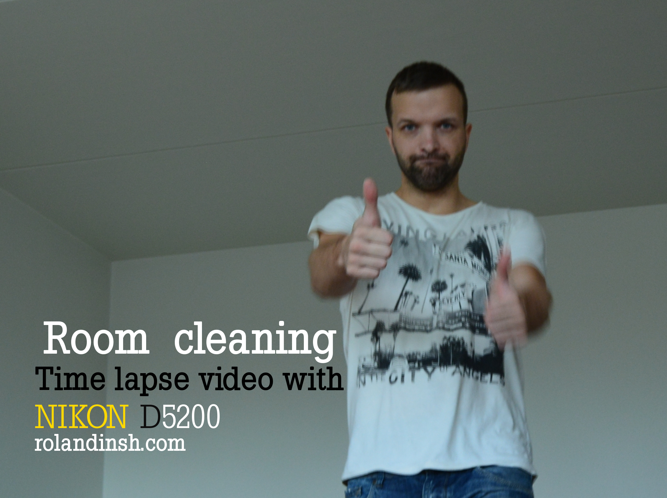 Cleaning room. Time lapse video