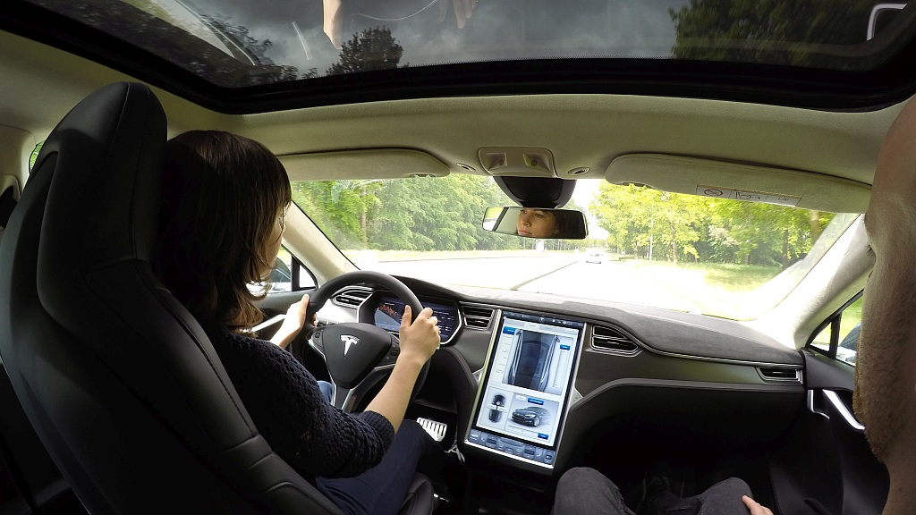 Tesla test drive in Odense (video)