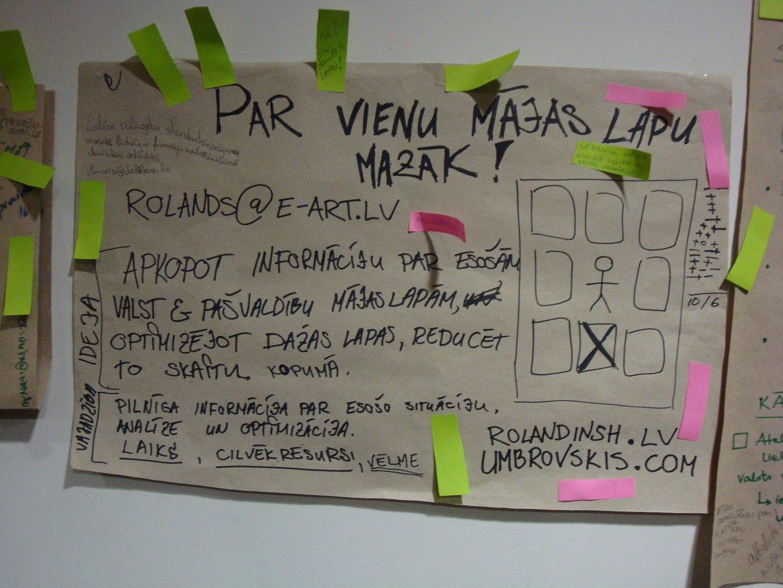 Ideja: Par vienu mājas lapu mazāk. #GOVcampLv
