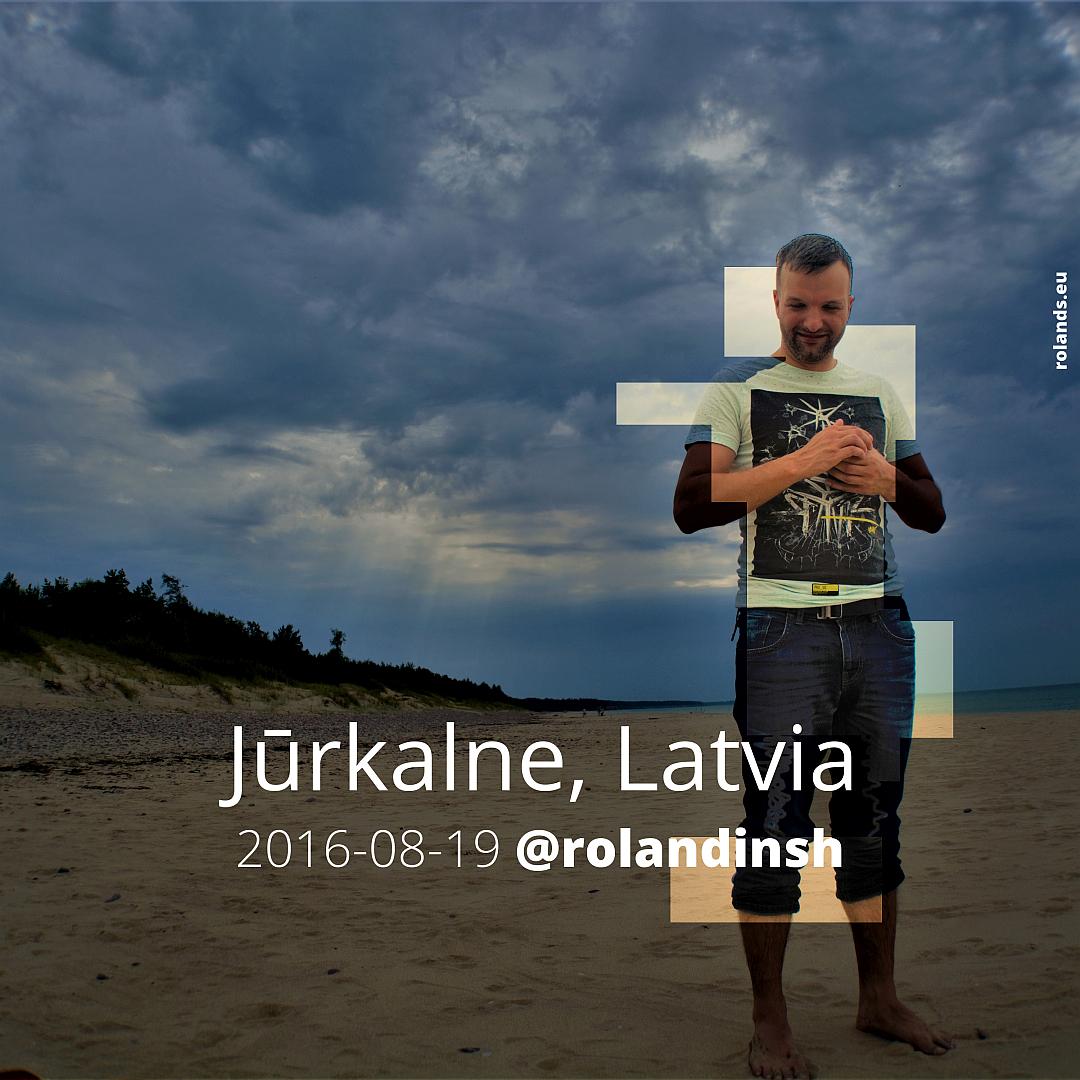 Jūrkalnes pludmale. Latvija. Rolands Umbrovskis.