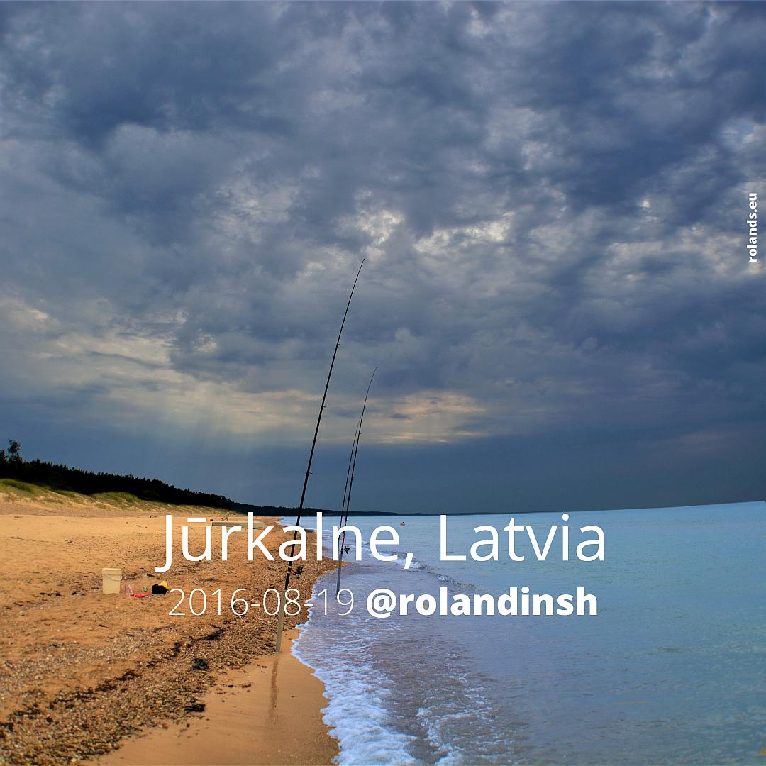 Jūrkalnes pludmale. Latvija.