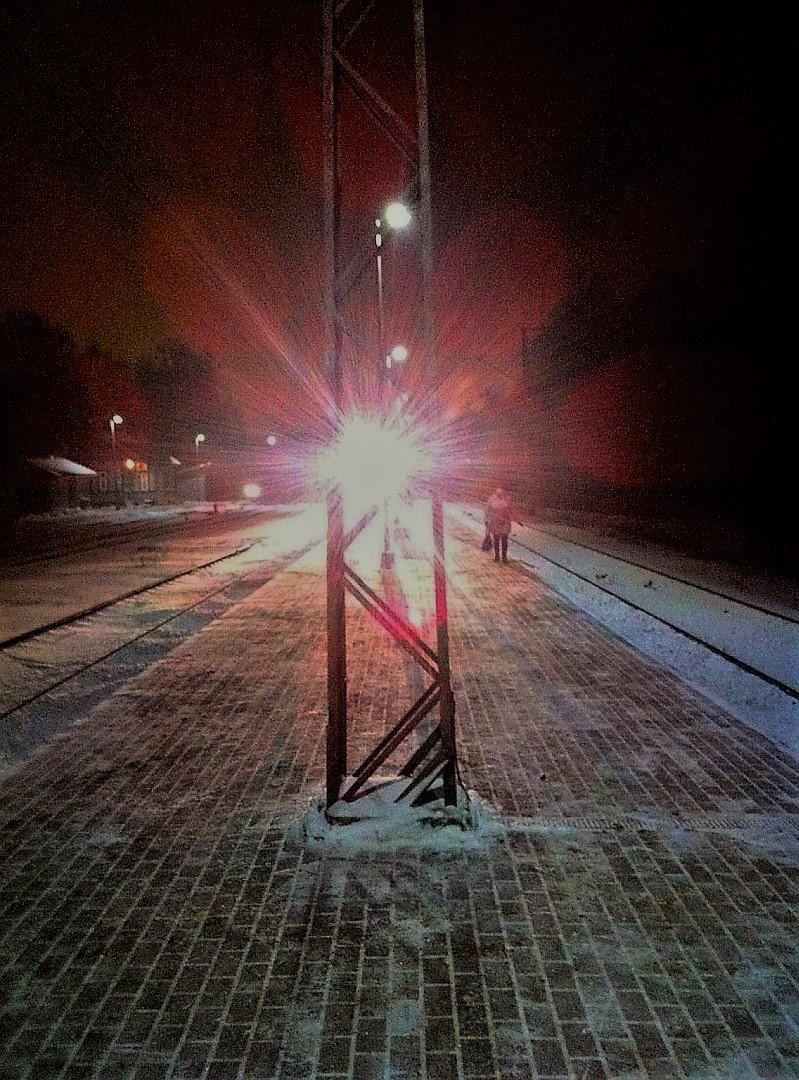 Vecmilgrāvja stacija. Rīga. 2018. gada ziema.