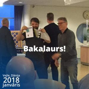 Bakalaurs Dānijā pabeigts