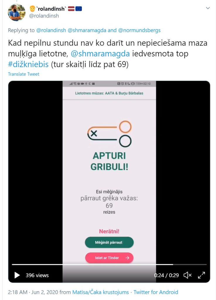 Kad nepilnu stundu nav ko darīt un nepieciešama maza muļķīga lietotne,  @shmaramagda  iedvesmota top #dižkniebis (tur skaitļi līdz pat 69)