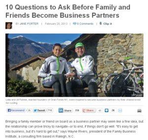 entrepreneur.com 10 atbildēs par biznesu ģimenē vai ar draugiem