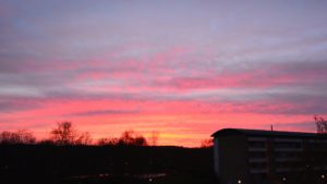 Saulrieta skati no Vollsmoses pāri Odensei (foto + video)