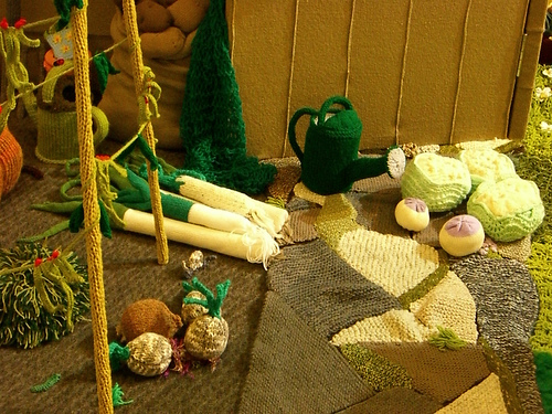 Knitted veggies by WordRidden (Flickr) | Adījumi