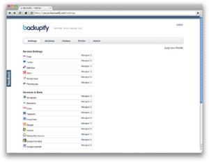 Backupify.com – rezerves kopijas interneta aplikācijām un mājas lapām!