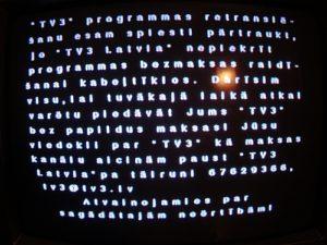 Baltkom pārtrauc TV3 retranslāciju (foto+video)