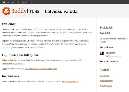 BuddyPress Latviešu valodā