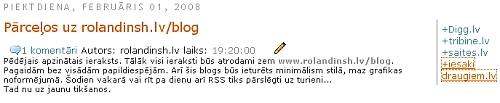 draugiem.lv/say priekš Blogger