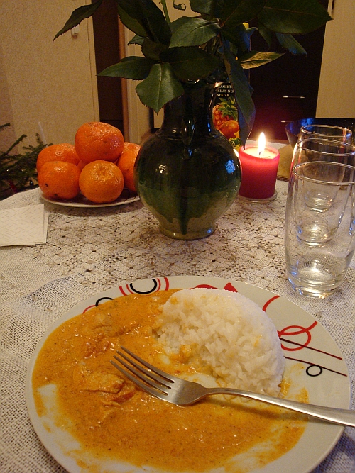 Murgh Makhani. Indiešu ēdieni.