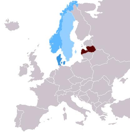 Latvija, Norvēģija, Dānija, Zviedrija