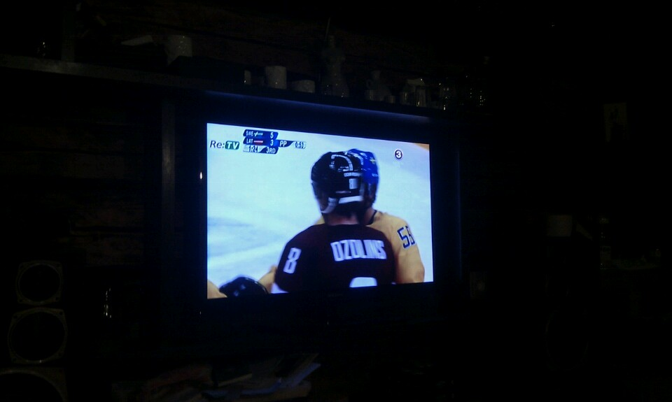 2014. gada Olimpiskās spēles. Hokejs. Latvija pret Zviedriju. Ozoliņš