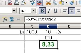 10% aprēķins pie 1000ls noguldījuma
